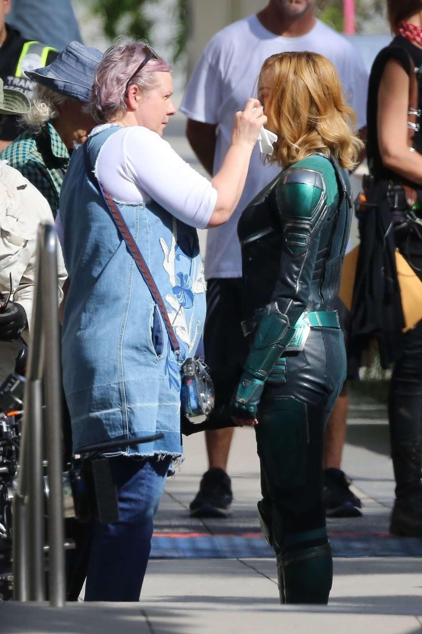 Brie Larson 2018 : Brie Larson: On the set of Captain Marvel -08