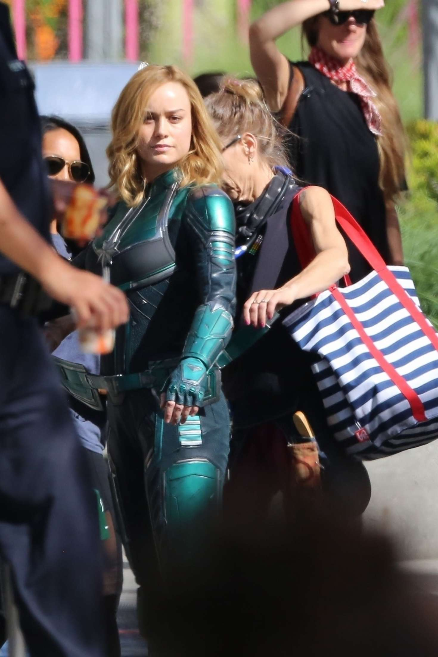 Brie Larson 2018 : Brie Larson: On the set of Captain Marvel -09