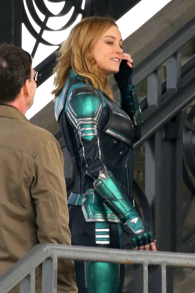Brie Larson: On the set of Captain Marvel -10