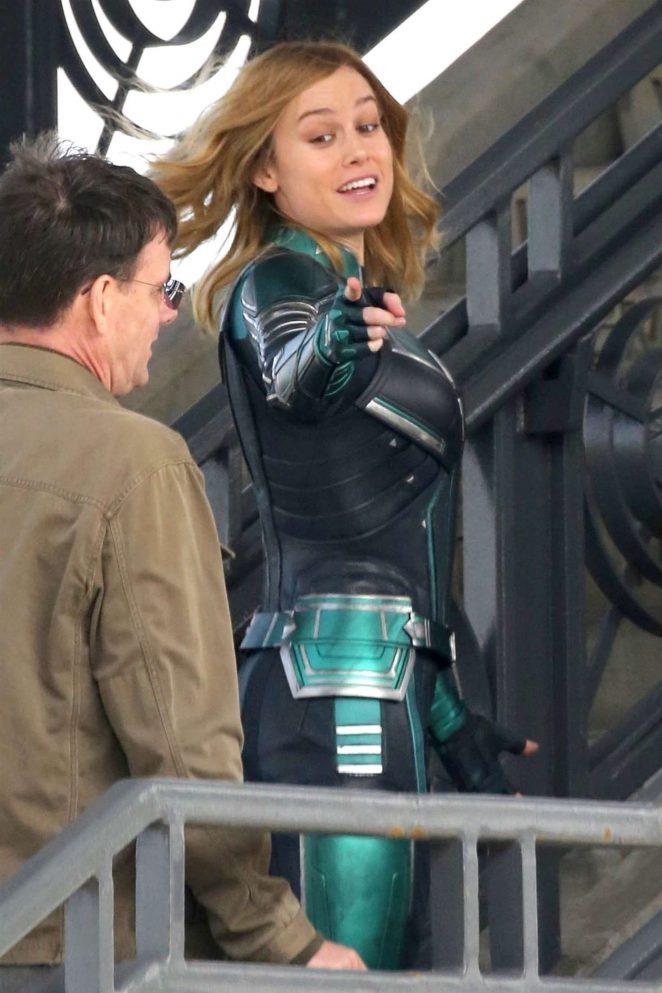 Brie Larson: On the set of Captain Marvel -11