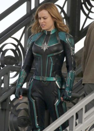 Brie Larson - On the set of 'Captain Marvel' in Los Angeles
