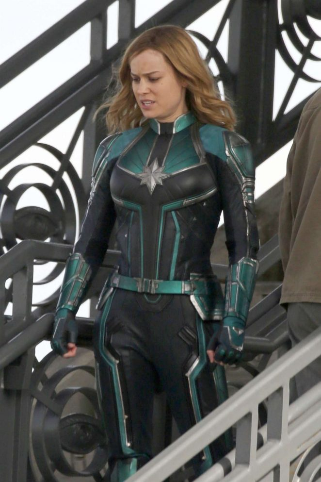 Brie Larson: On the set of Captain Marvel -14