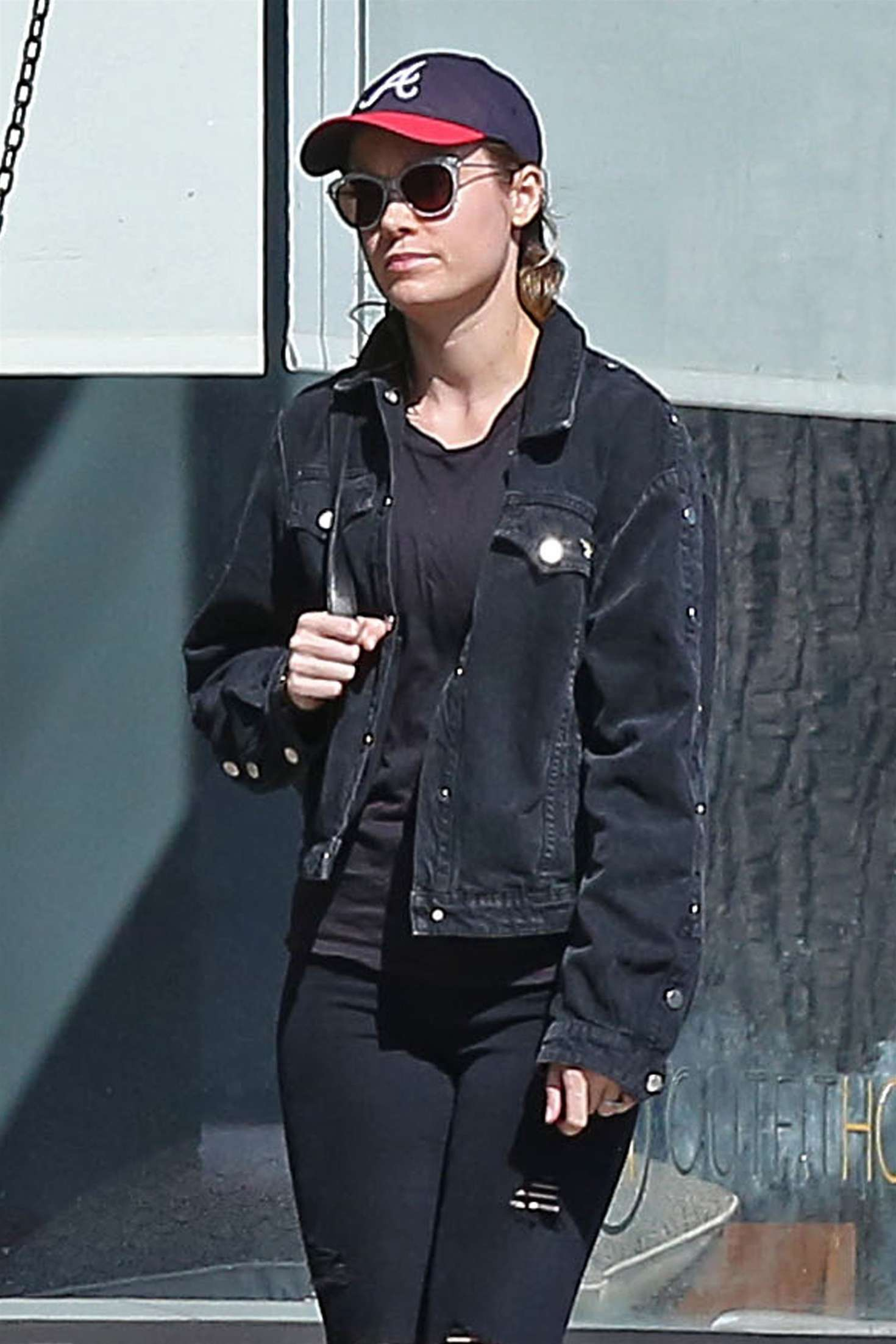 Brie Larson out for lunch at Cheebo in West Hollywood