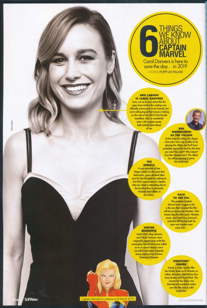 Brie Larson - Sci Fi Now Magazine 2017