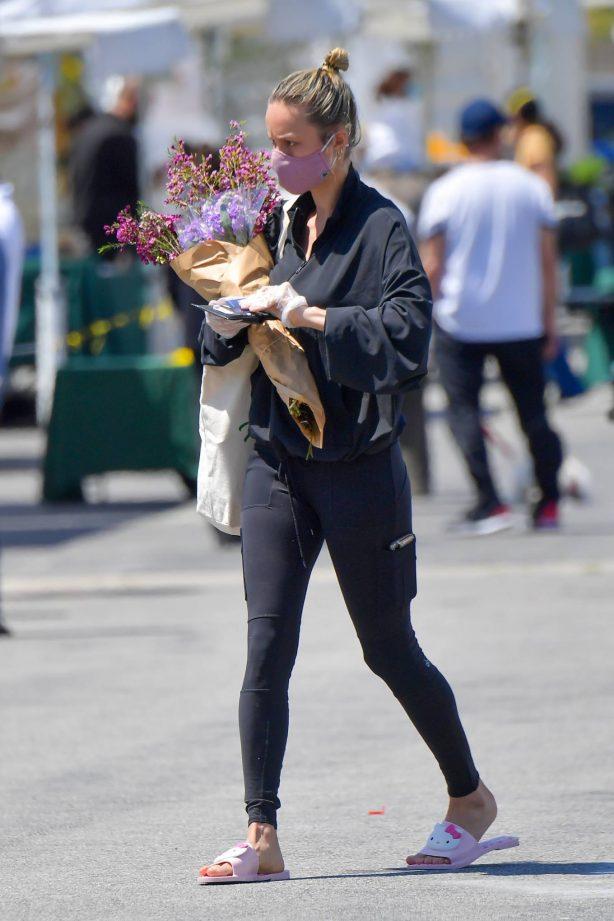 Brie Larson - Wearing Hello Kitty slippers in Malibu