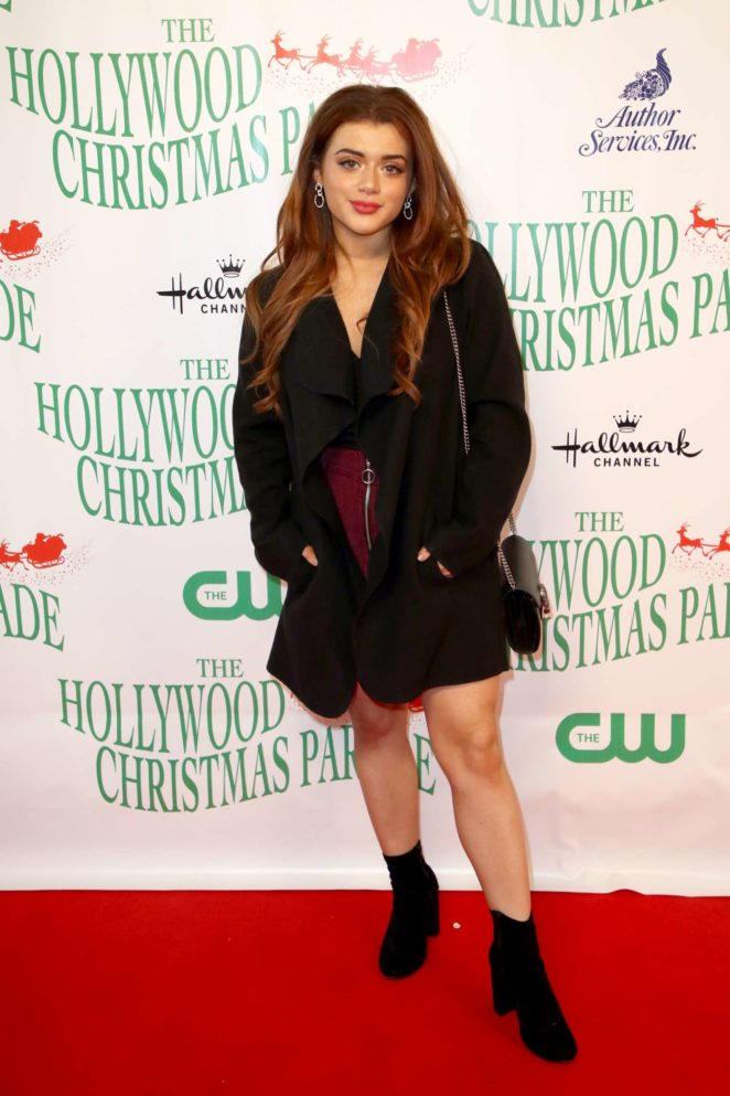 brielle barbusca 2017 hollywood christmas parade in los angeles