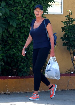 Brigitte Nielsen in Tights out in Studio City