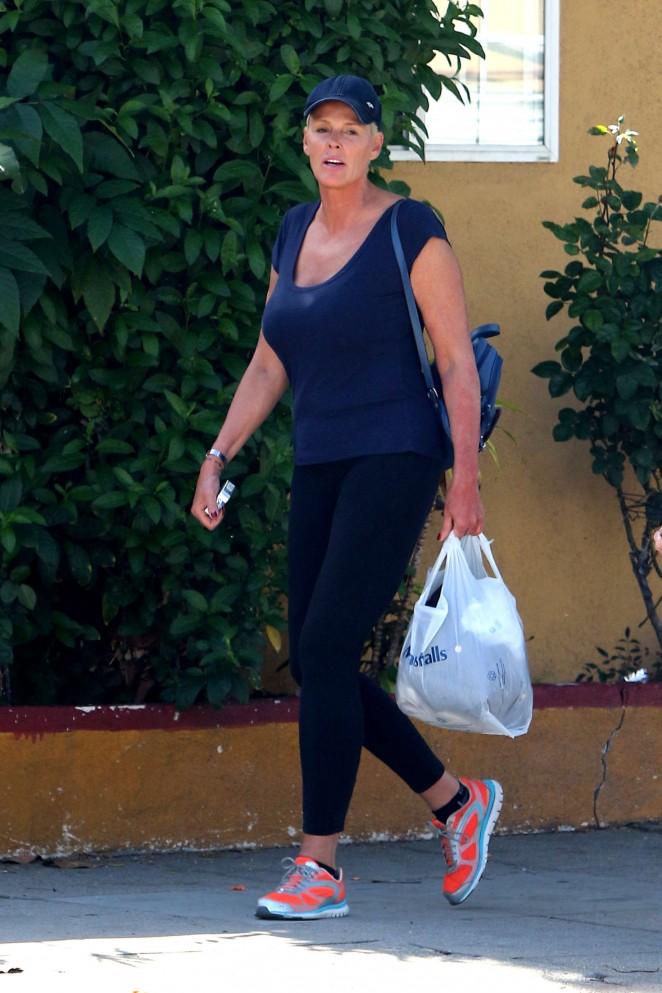 Brigitte Nielsen in Tights out in Studio City
