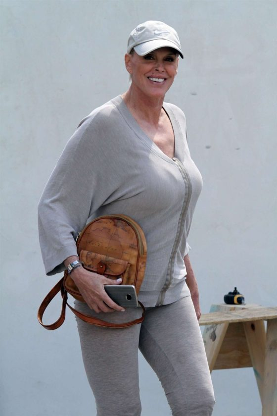 Brigitte Nielsen - Leaving Le Pain Quotidien in Los Angeles