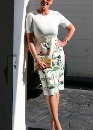 Brigitte Nielsen out in Beverly Hills