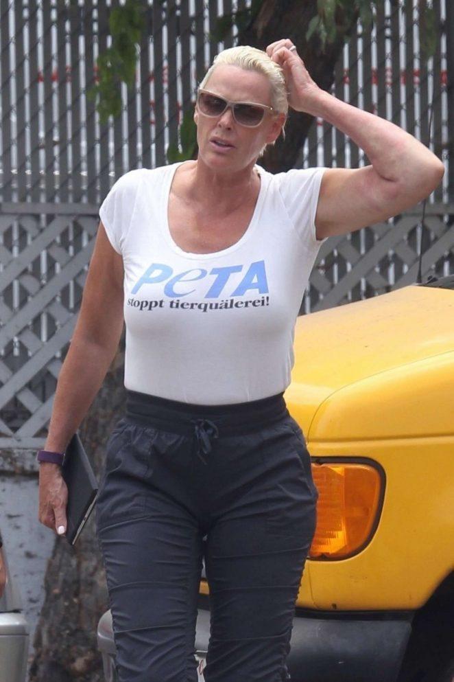 Brigitte Nielsen out in Studio City