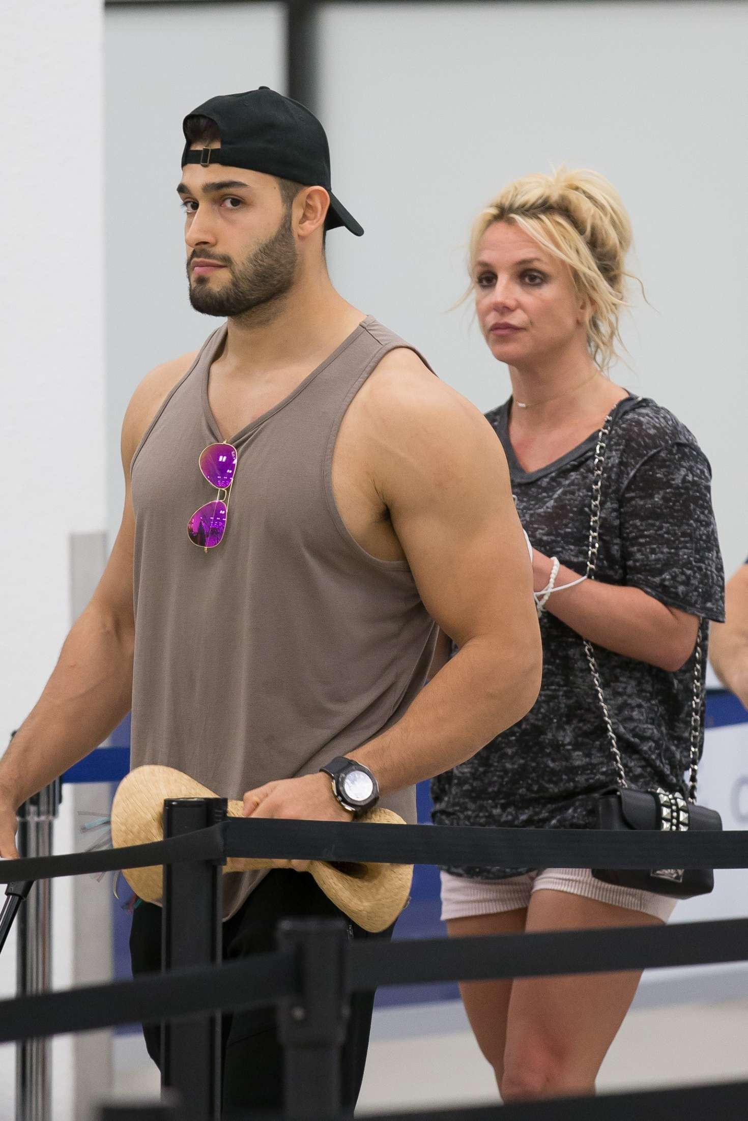 Britney Spears And Boyfriend Sam Asghari Leaves Miami
