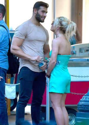 Britney Spears and her boyfriend - Spotted at Disneyland