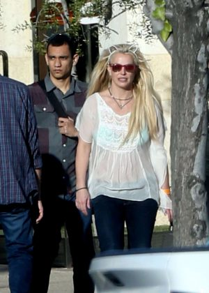 Britney Spears And Sam Asghari - Seen Out In Calabasas