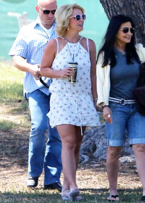 Britney Spears at her son's soccer match in Los Angeles