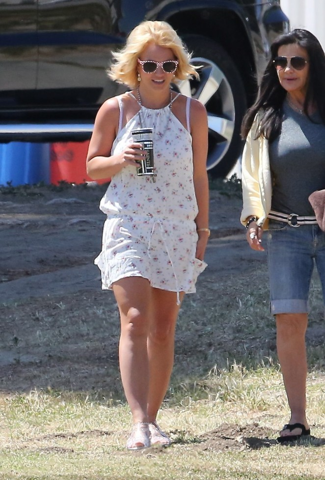 Britney Spears in Mini Dress -12