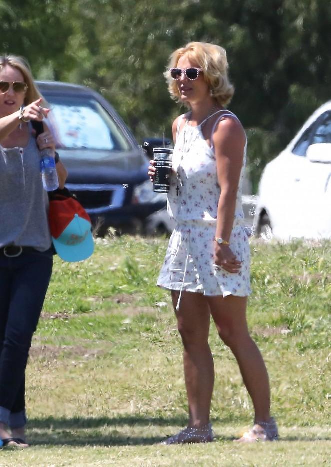 Britney Spears in Mini Dress -16