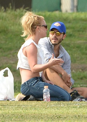 Britney Spears with boyfriend Charlie Ebersol at her son soccer game in LA