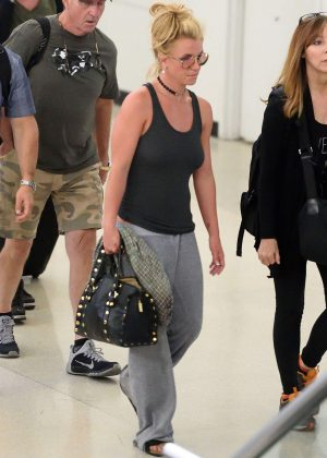 Britney Spears at Newark Airport in New Jersey