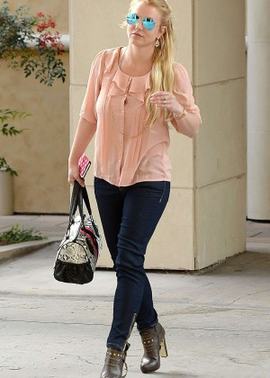 Britney Spears in Jeans at Westfield Topanga Mall in LA