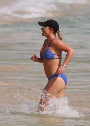 Britney Spears in Blue Bikini in Hawaii