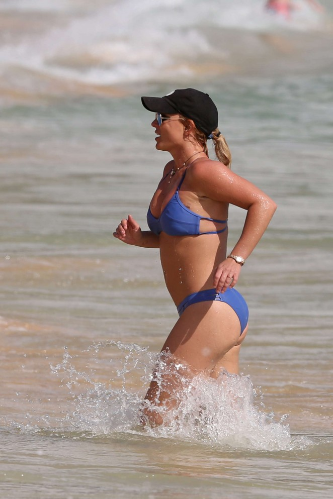 Britney Spears in Blue Bikini in Hawaii