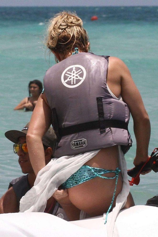 Britney Spears - In a bikini riding a jetski In Miami