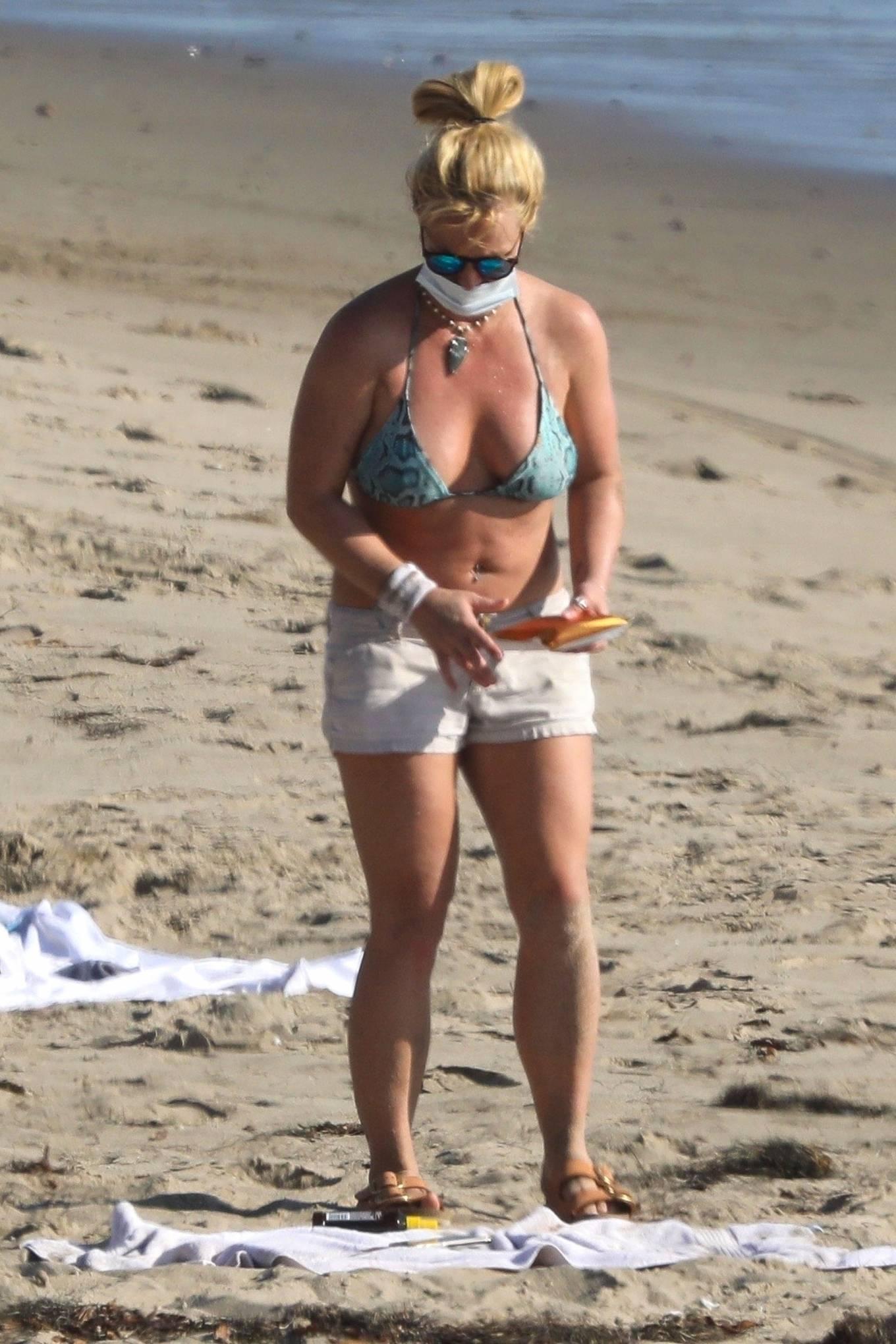 Britney Spears - In Bikini at a Beach in Malibu