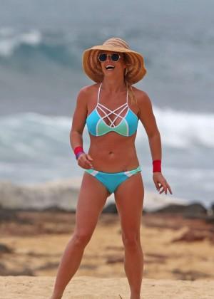 Britney Spears in Bikini on the beach in Hawaii