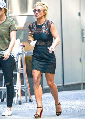 Black Lace Dress Britney Spears 46
