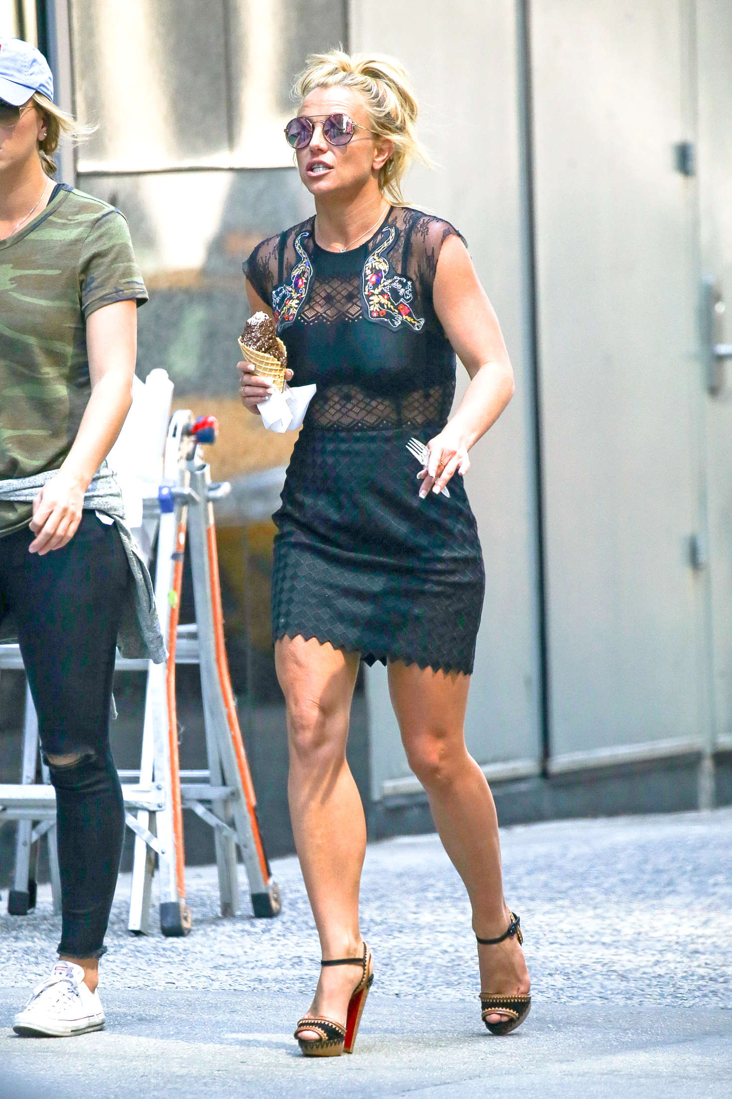 Britney Spears In Black Mini Dress 04 Gotceleb