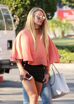 Britney Spears in Black Shorts -04