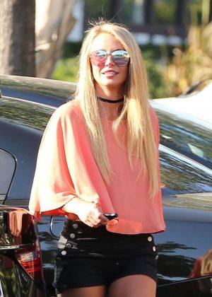 Britney Spears in Black Shorts -07