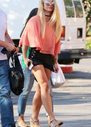 Britney Spears in Black Shorts -08