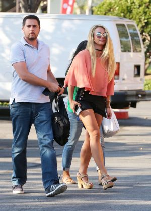 Britney Spears in Black Shorts -10