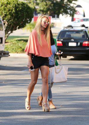 Britney Spears in Black Shorts -11