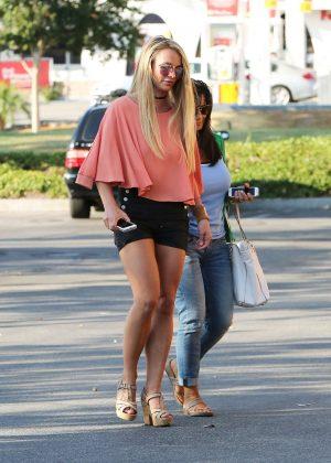 Britney Spears in Black Shorts -12