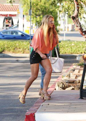 Britney Spears in Black Shorts -13