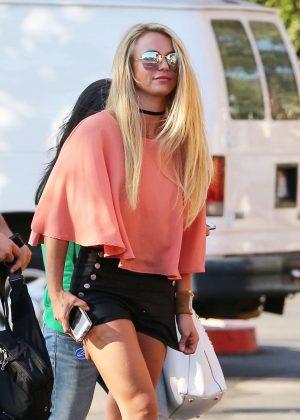 Britney Spears in Black Shorts -14
