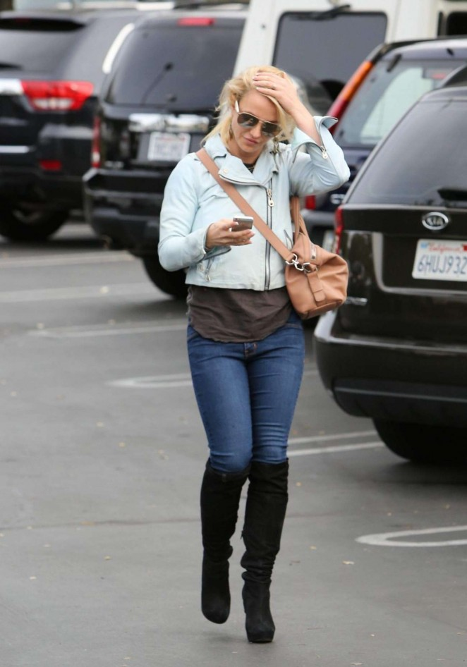 Britney Spears in Jeans Out in Los Angeles