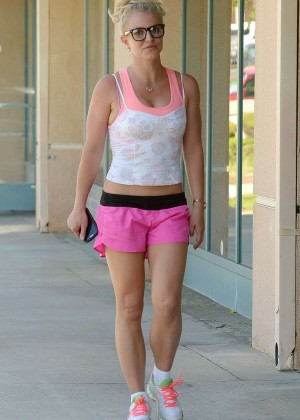 britney spears in pink shorts out in westlake village