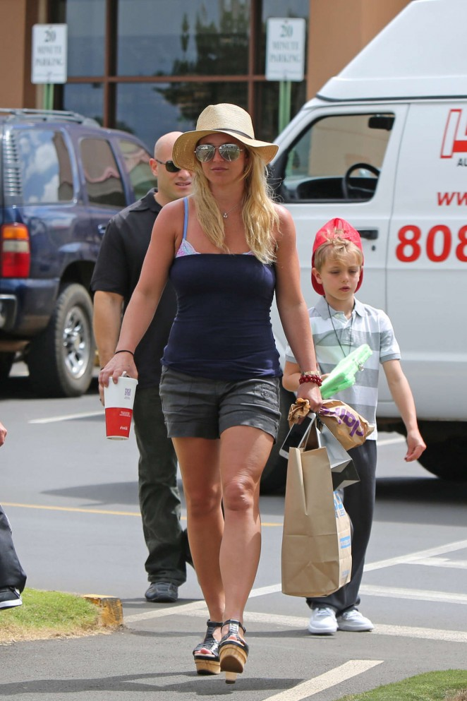 Britney Spears in Shorts -02
