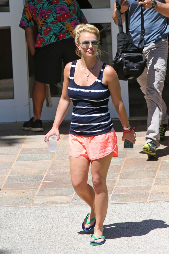 Britney Spears in Shorts -03