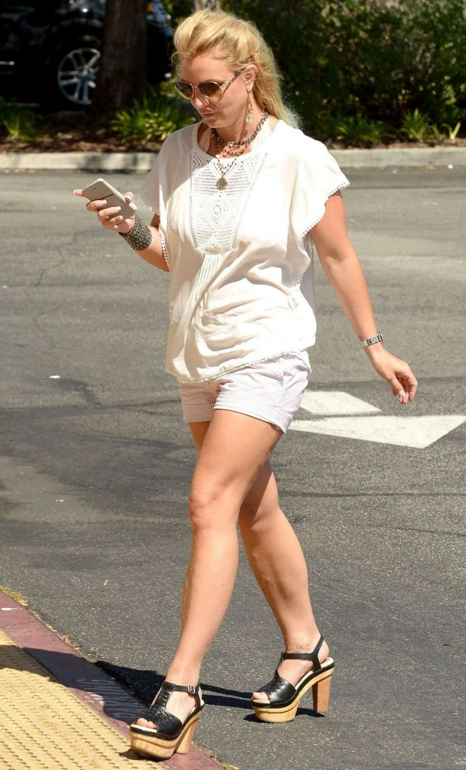 Britney Spears in Shorts out in Malibu