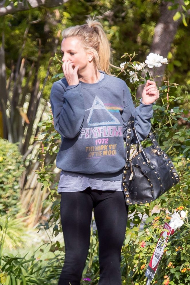 Britney Spears in Tights out in Los Angeles