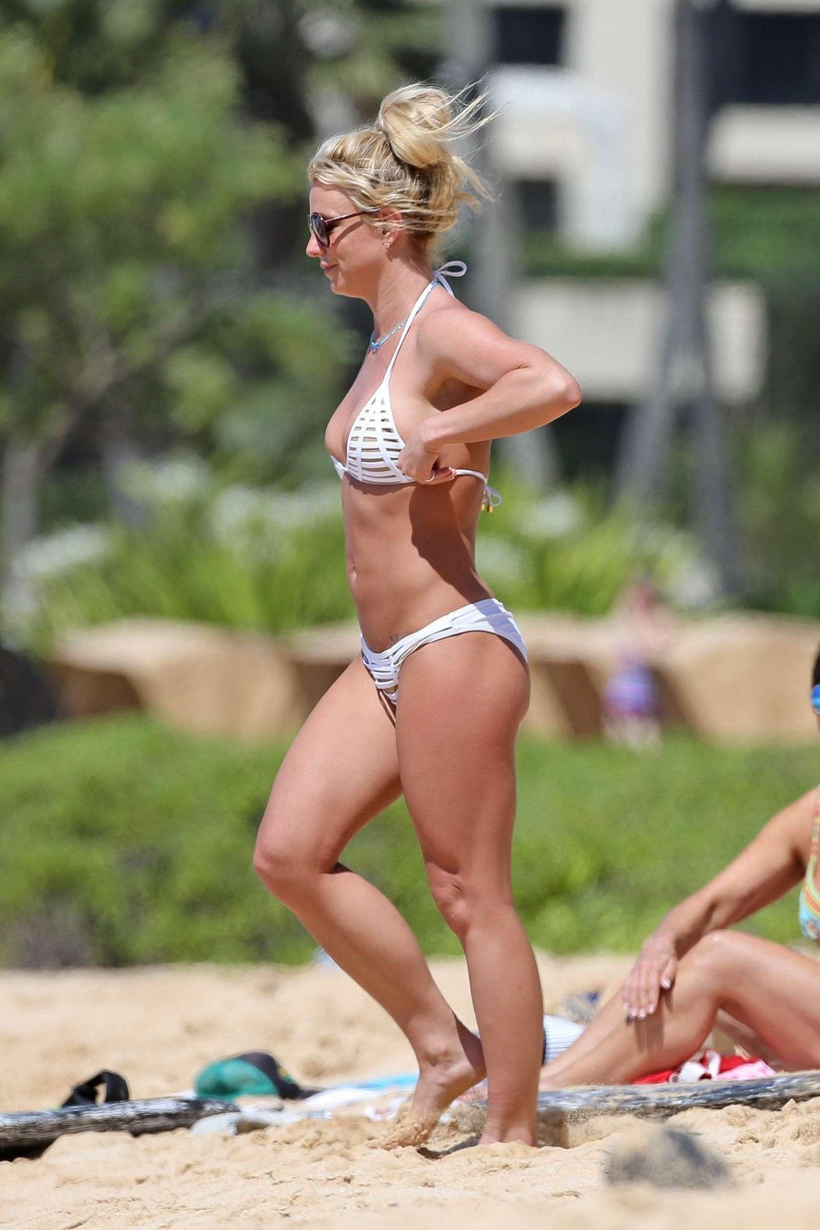 brittney white bikini