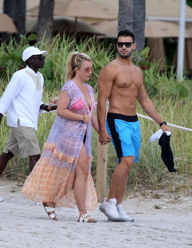 Britney Spears: Jet ski ride on the beach in Miami-09