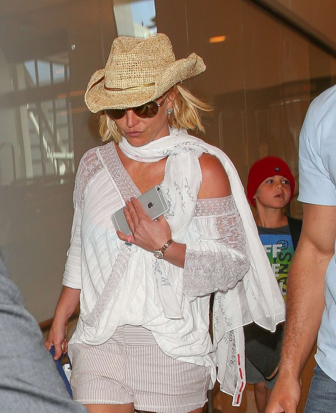 Britney Spears - LAX airport in LA