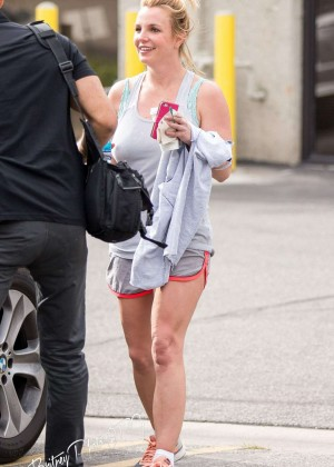 Britney Spears - Leaves a Gym in Thousand Oaks