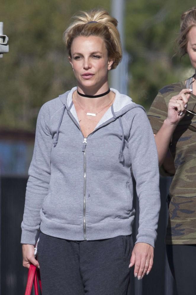 Britney Spears - Leaving a dance studio in Las Vegas
